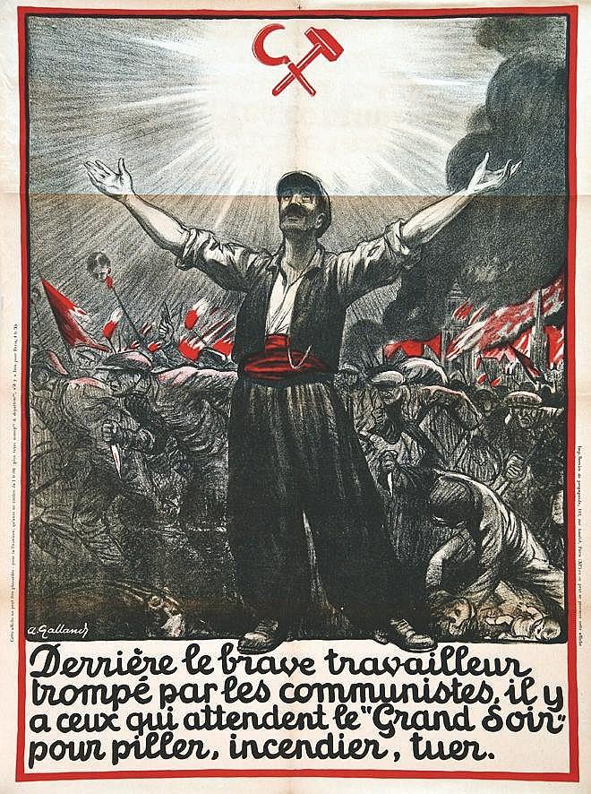 GALLAND ANDRE  Derrière le brave travailleur….     vers 1930