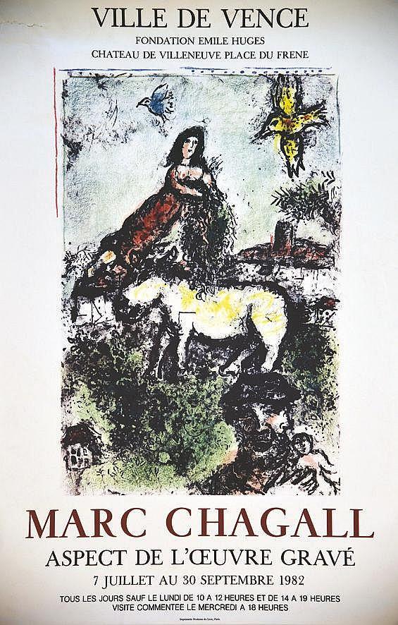 CHAGALL MARC  Marc Chagall Ville de Vence     1982