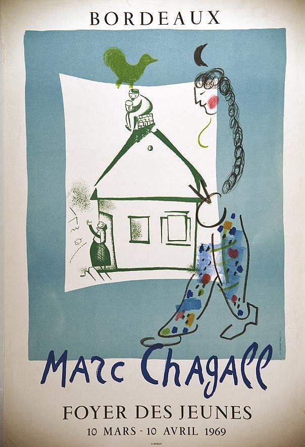 CHAGALL MARC  Bordeaux Foyer des Jeunes     1969