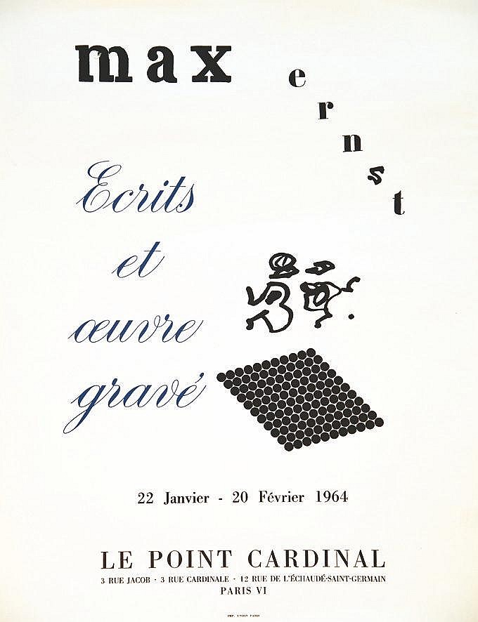 ERNST MAX  Ecrits et Œuvre Gravée Le Point Cardinal     1964