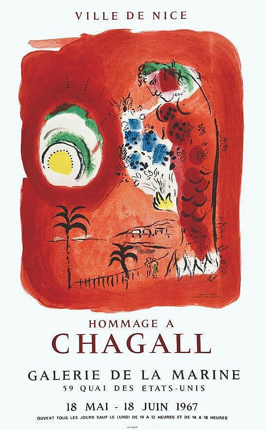 CHAGALL MARC  Homage à Chagall Galerie De La Marine     1967  Nice (Alpes Maritimes)