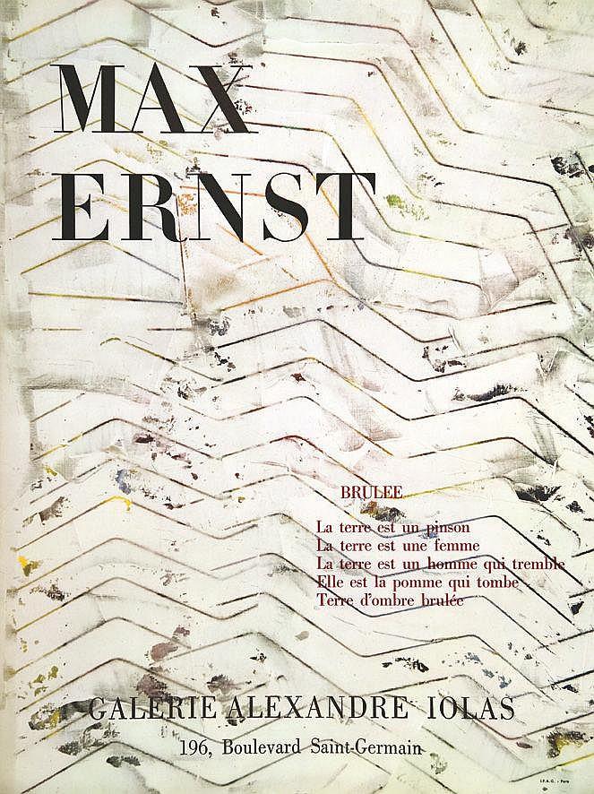 ERNST MAX  Max Ernst Galerie Alexandre Iolas     vers 1970