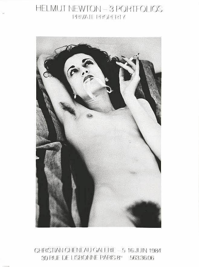 NEWTON HELMUT  Portrait de Violetta - Helmut Newton - 3 Portofolios     1984