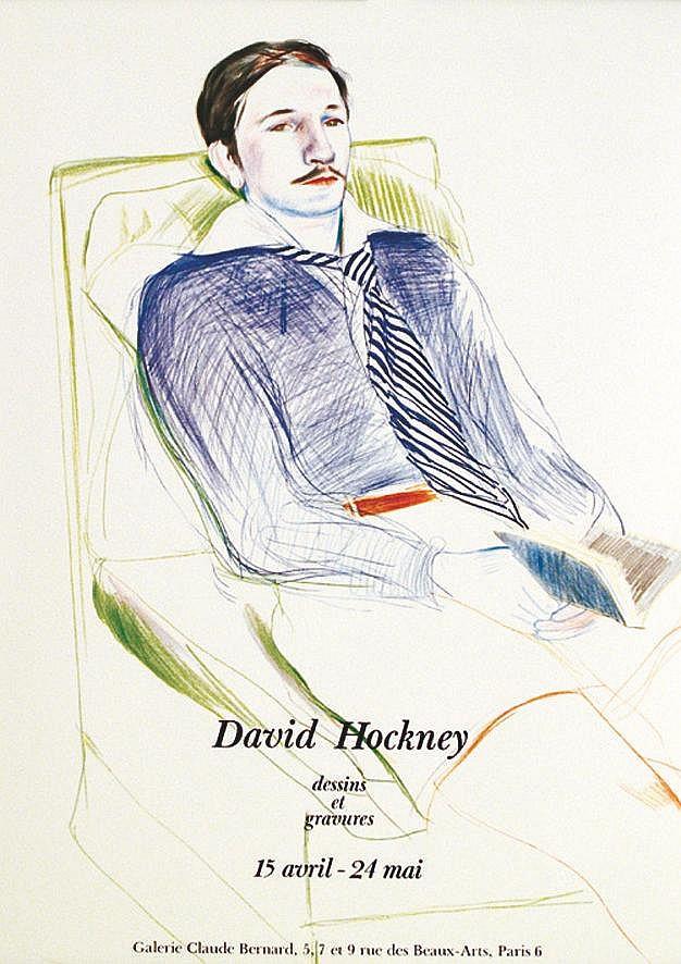 HOCKNEY DAVID  David Hockney - Dessins et gravures. Galerie Claude Bernard.     1975