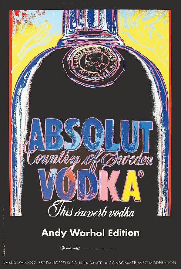 WARHOL ANDY  Absolut Vodka     2015