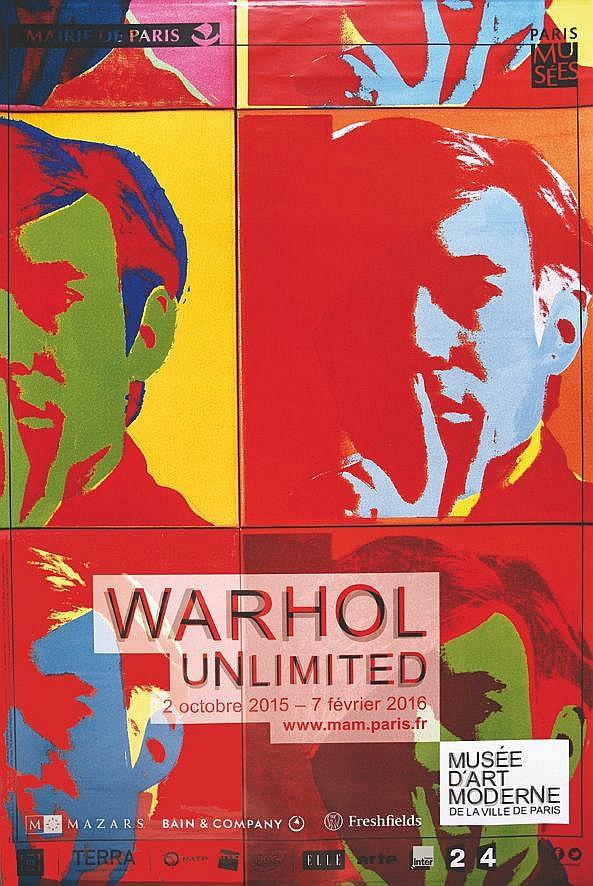 WARHOL ANDY  Warhol Unlimited Musée d'Art Moderne de la Ville de Paris     2015