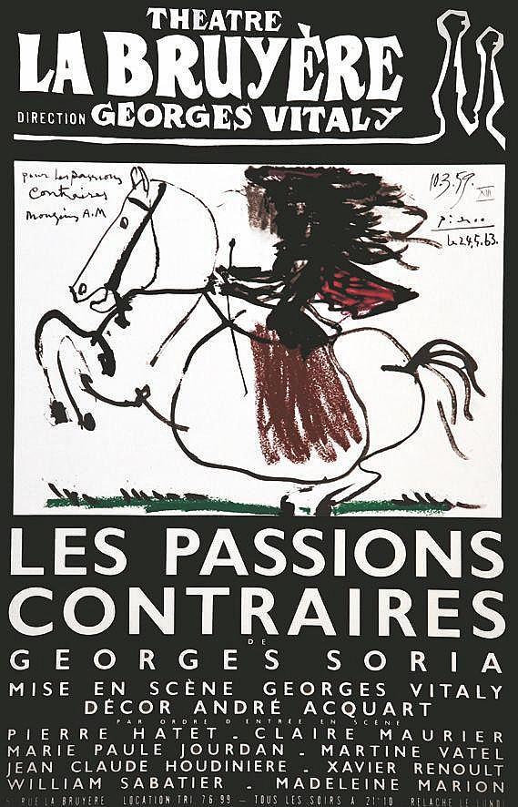 PICASSO PABLO  Les Passions Contraires de Georges Soria     1963
