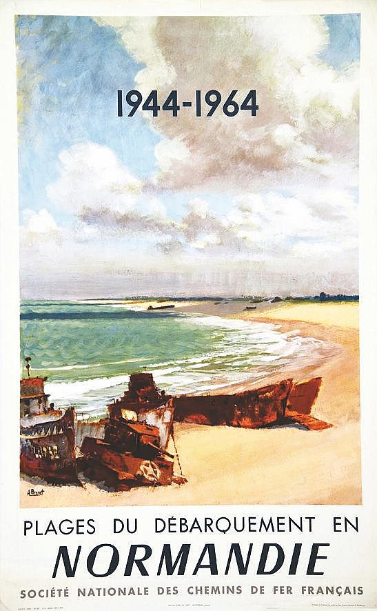 BRENET  ALBERT  Plages du débarquement en Normandie 1944-1964     1964