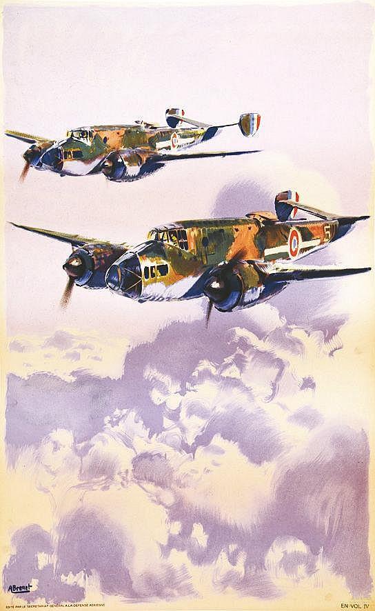 BRENET ALBERT  Armée de l'air - 2 avions     vers 1950