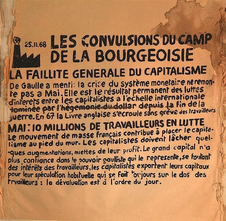 Les Convultions du Camp de la Bourgeoisie 1968