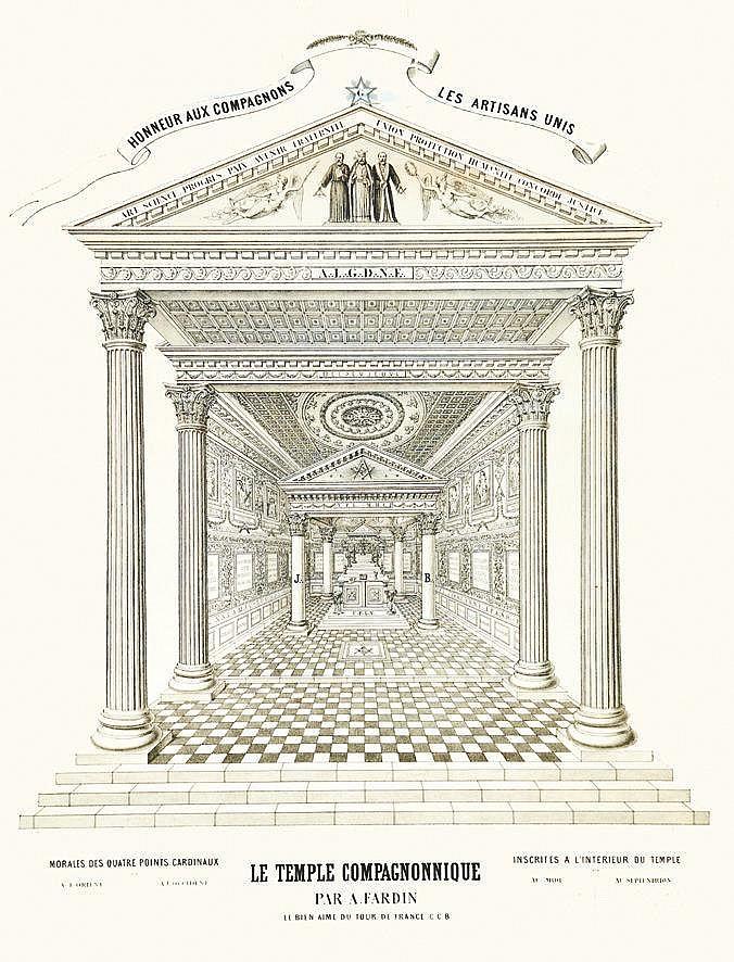BLONDEAU JULES  Le Temple Compagnonnique par A. Fardin - Honneur Aux Compagnons     vers 1880