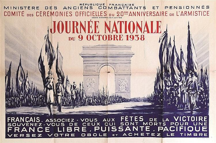 DEGORCE  Journée Nationale du 9 Octobre 1938     1938