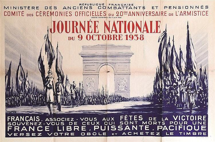DEGORCE Journée Nationale du 9 Octobre 1938 1938