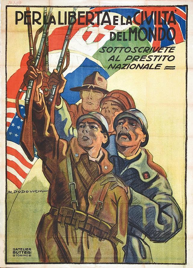 DUDOVICH M. Per la libertà e la civiltà del Mondo 1918