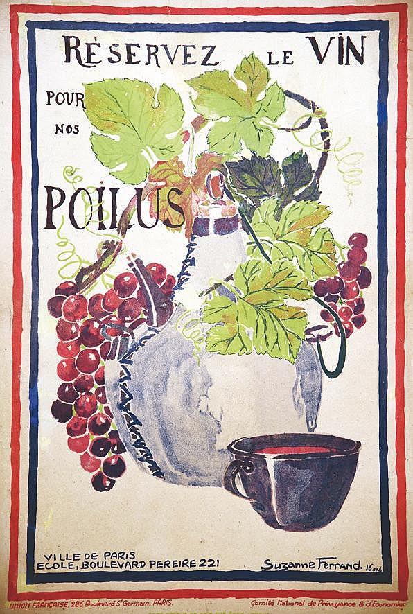 FERRAND SUZANE élève école com Péreire Paris 17  Réservez le Vin pour nos Poilus     1918