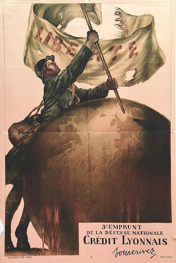 FAIVRE ABEL  Crédit Lyonnais - Liberté     vers 1917