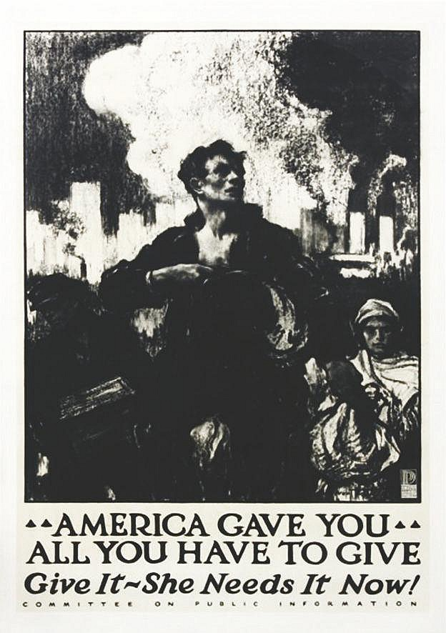 WALTER TAYLOR F.  America Gave You All You Have to Give, Give It - She Needs It Now!     1917