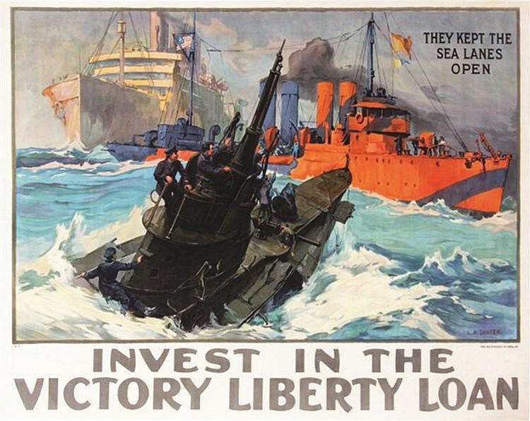 SHAFER L.A.  Keep The Sea Lanes Open , Invest In The Victory Liberty Loan.     1918