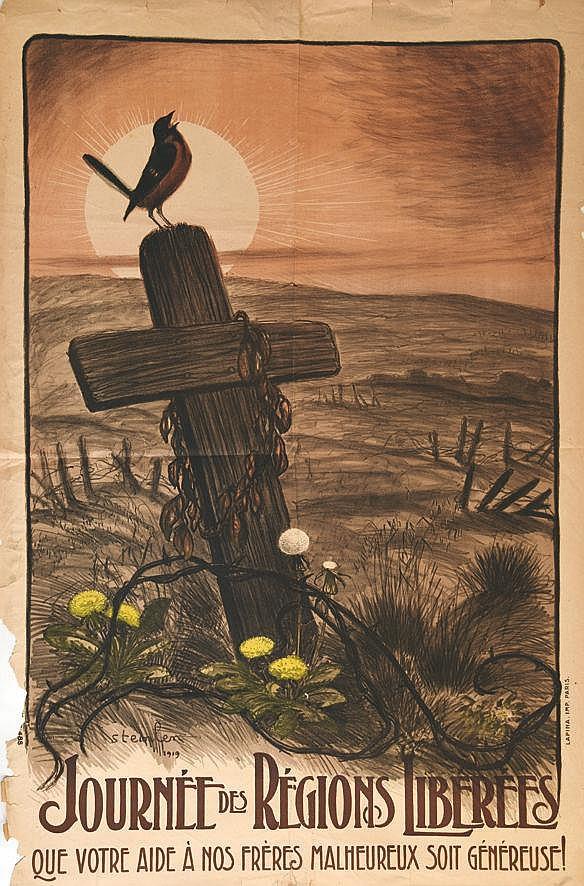 STEINLEN THEOPHILE ALEXANDRE  Journées des Régions Libérées     1919