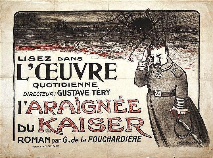 TRUCHET ABEL L'Araignée du Kaiser très rare vers 1914