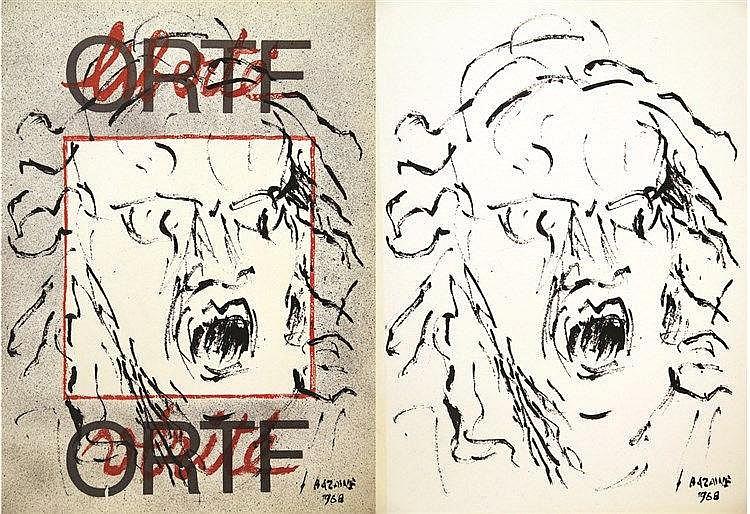 BAZAINE  Lot de 2 Affiches : ORTF 1968     1968