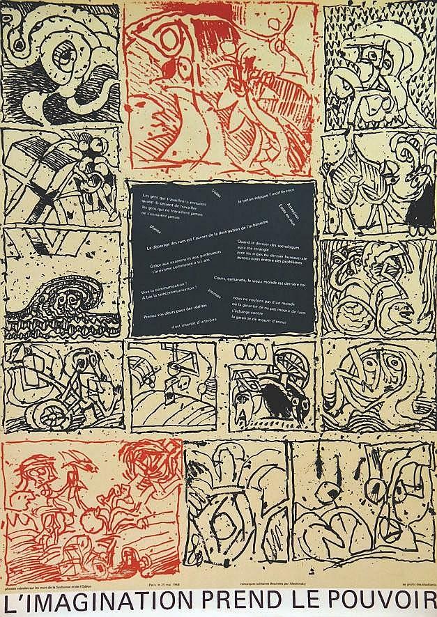 ALECHINSKY PIERRE  L'imagination prend le pouvoir - Très rare     1968