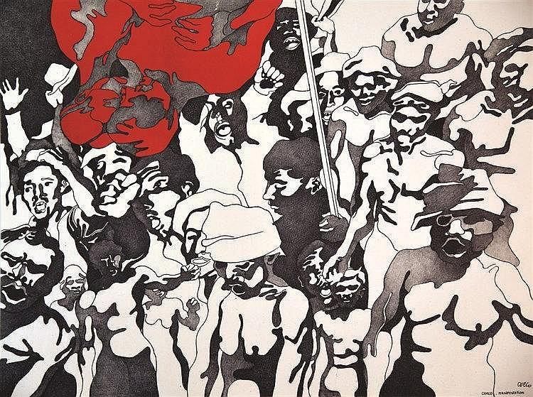 CUECO HENRI  Manifestation Affiche signée Cueco     1968