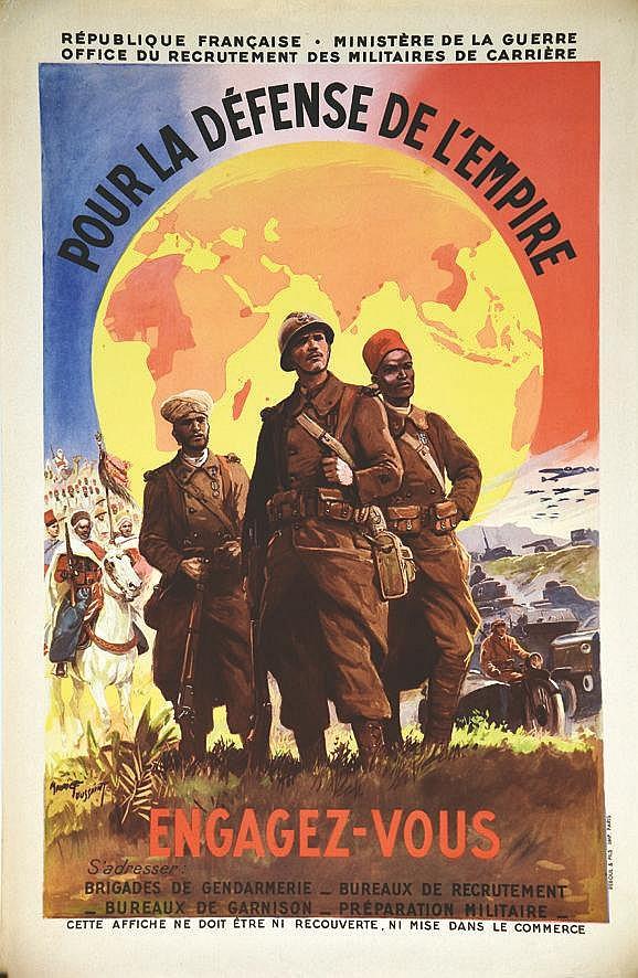 TOUSSAINT MAURICE  Pour la Défense de l'Empire Engagez vous     vers 1939