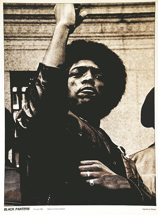 PHOTO : CHARLES HARBUTT MAGNUM Black Panthers Bobby Seal 1969
