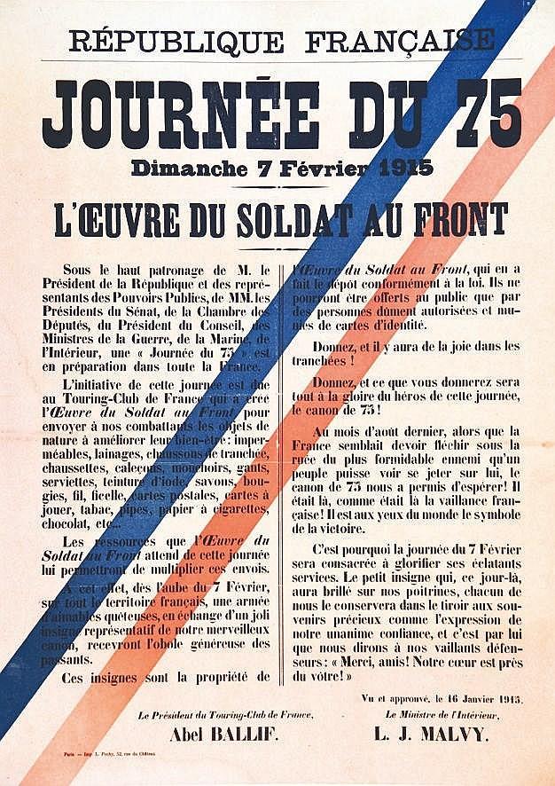 Journée du 75 Dim  : 7 Février 1915     1915