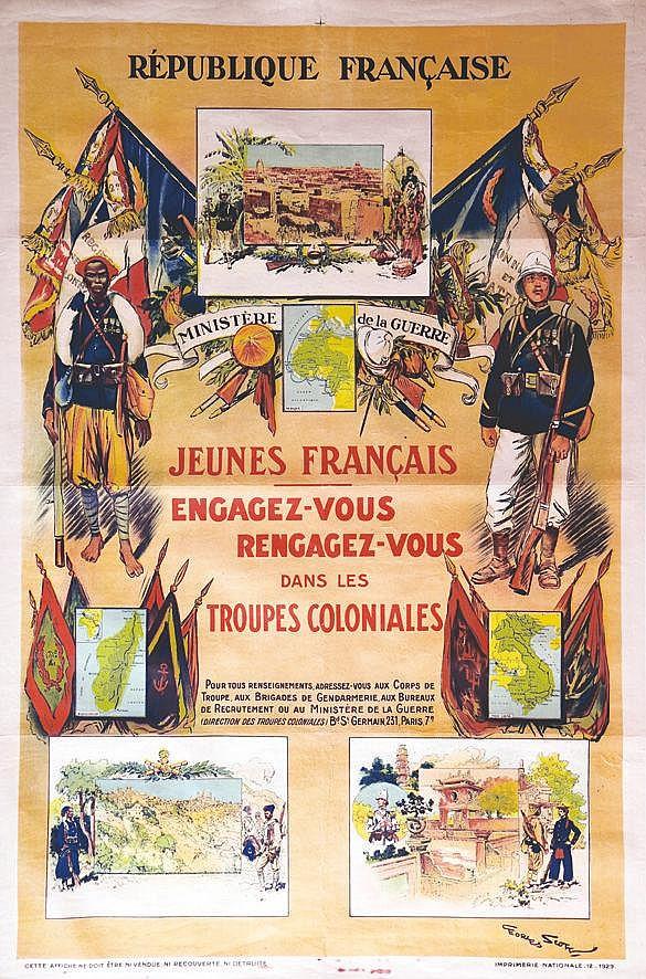SCOTT GEORGES Jeunes Français engagez-vous vers 1920
