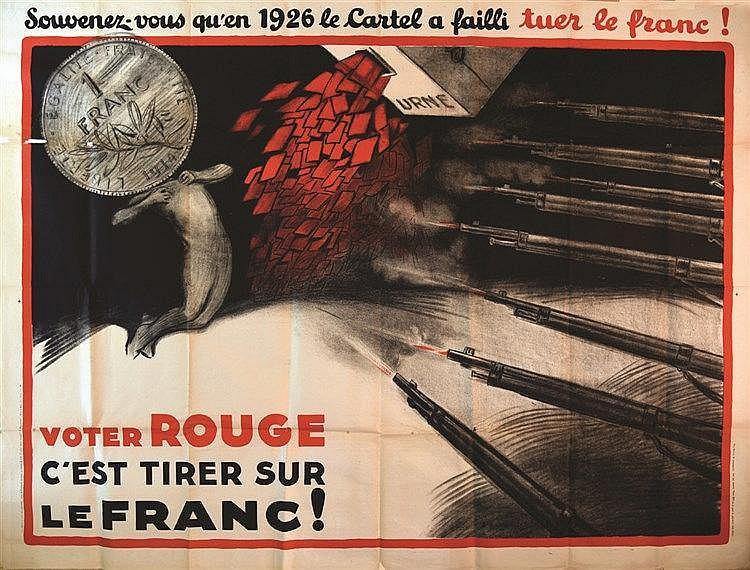 NELIGNE T. Voter Rouge c'est tirer sur le Franc ! vers 1936
