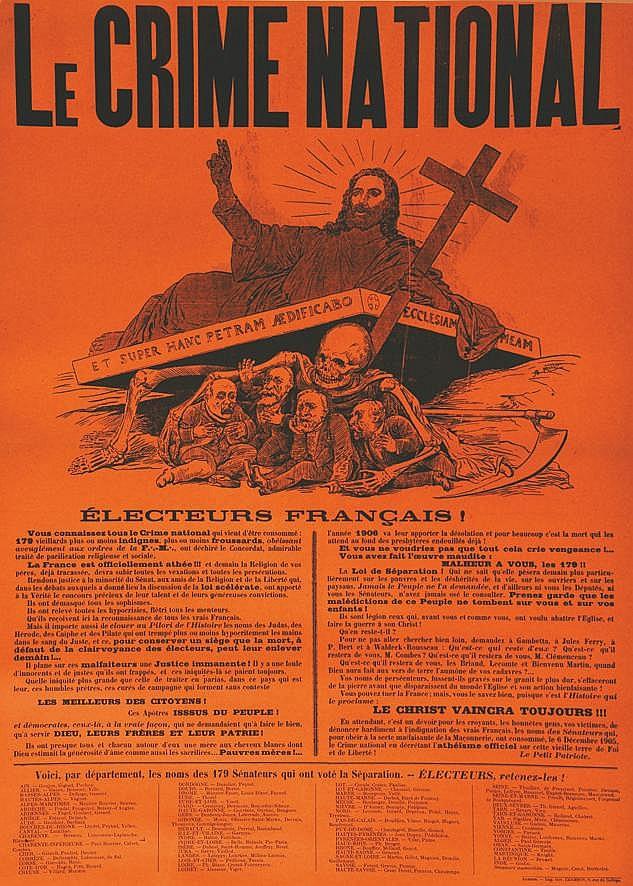 MILLO R.E.  Le Crime National - Electeurs Français !     1905
