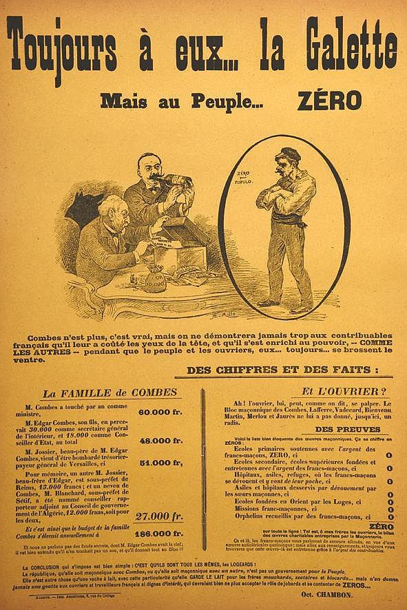MILLO R.E.  Toujours à Eux la Galette mais au Peuple … Zéro     1905