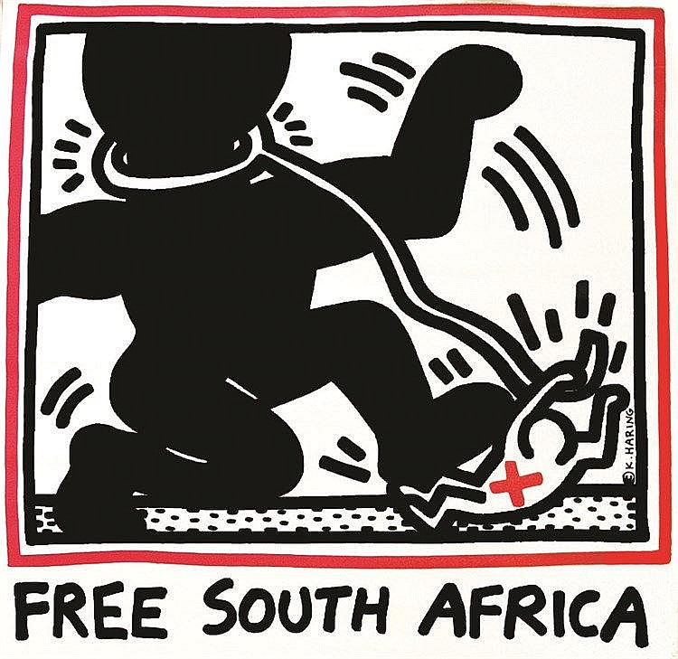 HARING KEITH Free South Africa vers 1980