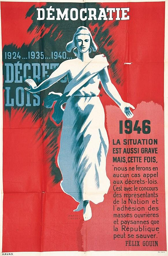 LAUREY MARCEL  Démocratie 1946     1946