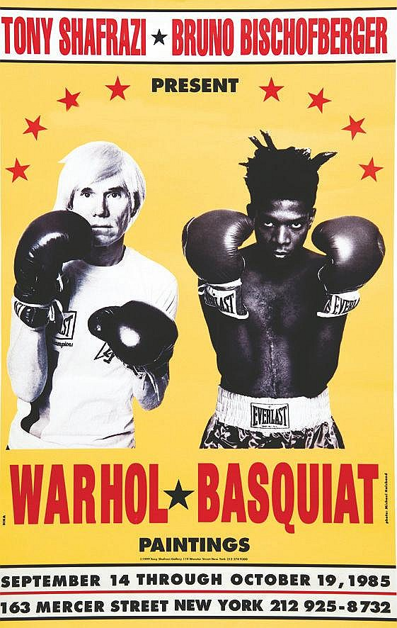 MILLO R.E.  Warhol - Basquiat - second  Tirage de 1999 - second realesse of 1999     1999