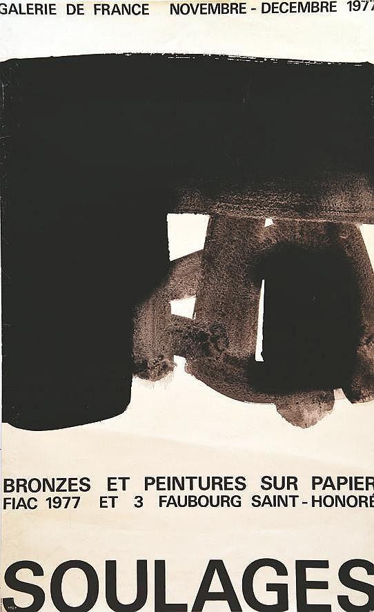 SOULAGES PIERRE  Soulages Galerie de France     1977