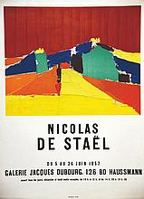 STAEL Nicolas de  Nicolas de Staël Galerie Jacques Dubourg     1957