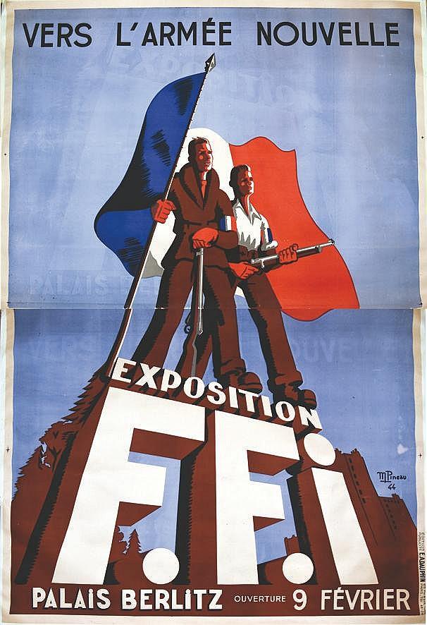PINEAU M. Exposition FFI vers l'Armée Nouvelle 1944