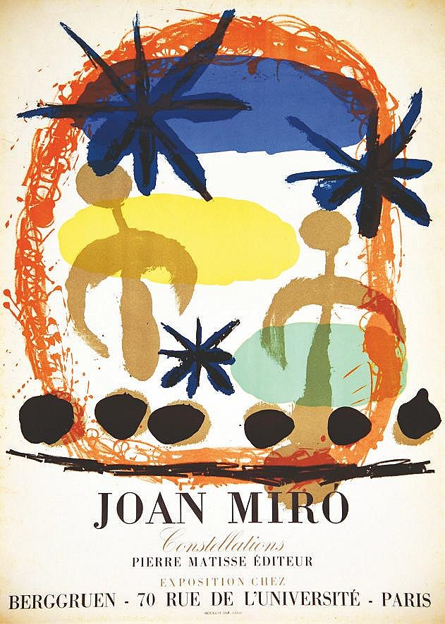 MIRO JOAN  Constellations - Pierre Matisse Berggruen     vers 1950