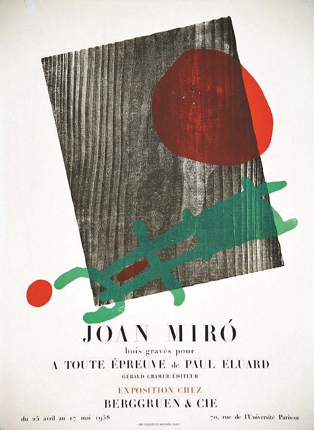 MIRO JOAN Joan Miro Galerie Berggruen & Cie 1958