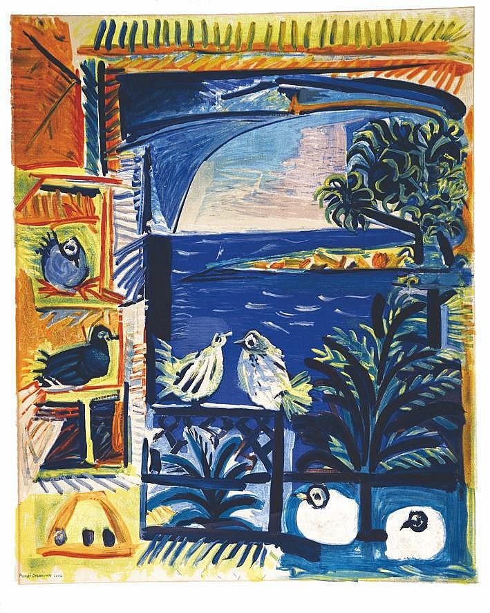 PICASSO PABLO Côte d'Azur affiche avant la lettre imprimée surArches / Poster before the letter printed on arches 1962