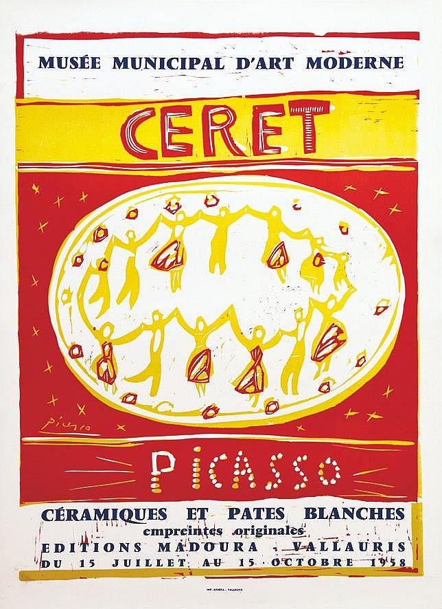 PICASSO PABLO Ceret - Picasso - Editions Madoura - Vallauris 1958 1958