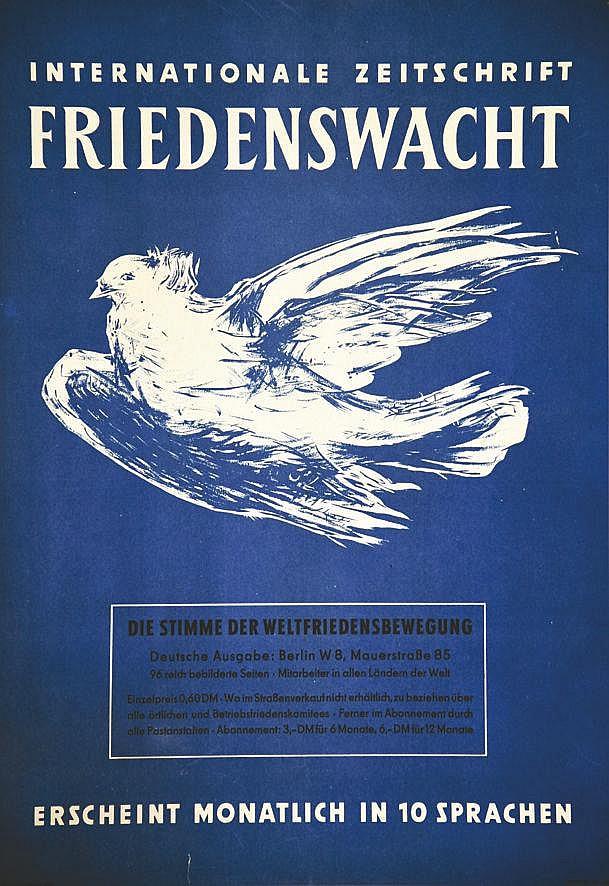 PICASSO PABLO d'après)  Friedenswacht Internationale Zeitschrift Berlin Est