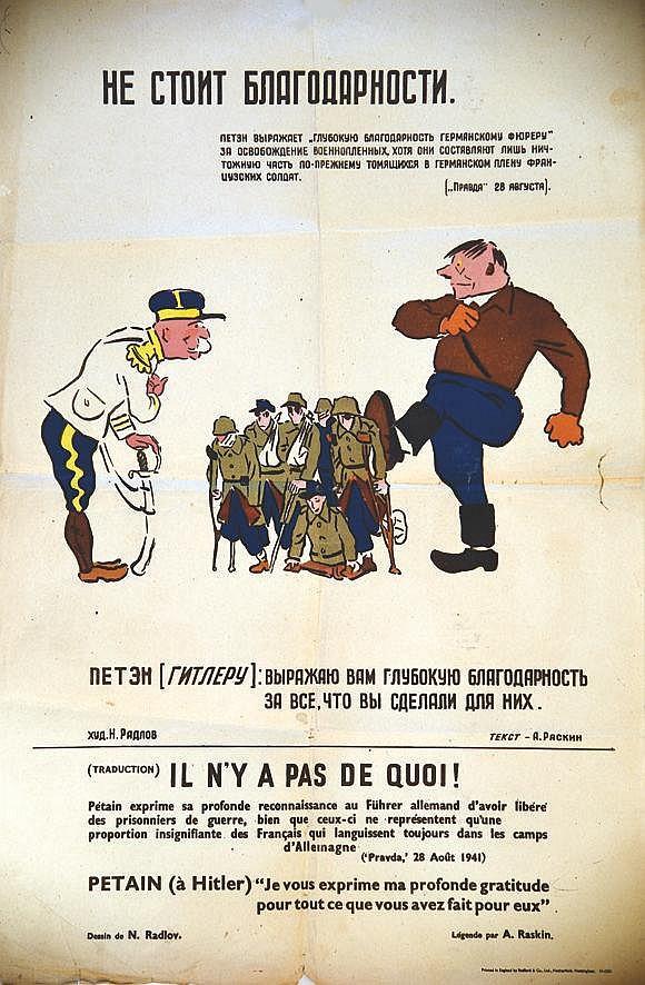 RADLOV N.  Il n'y a pas de quoi..rare affiche     1941