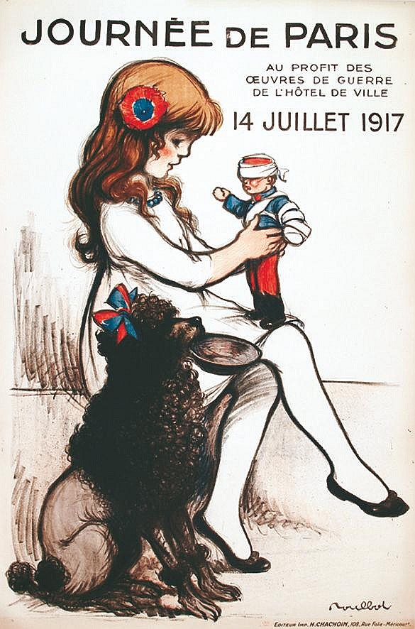 POULBOT Journée de Paris 14 Juillet 1917 1917