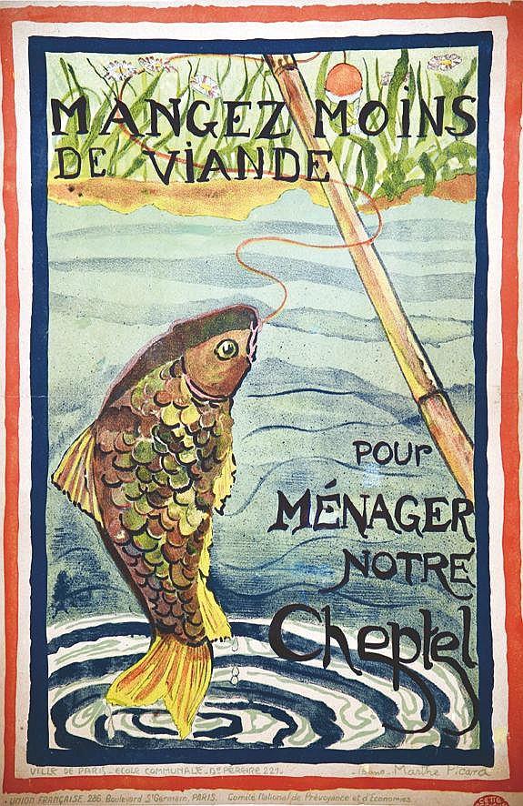 PICARD MARTHE Mangez moins de Viande 1918