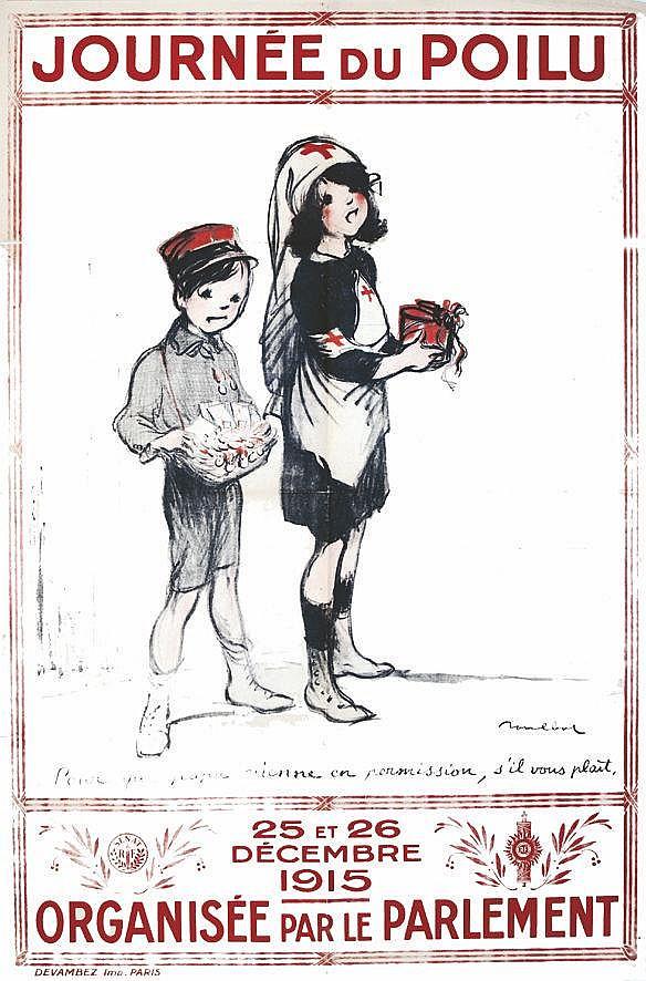 POULBOT  Journée du Poilu Organisée par le Parlement : Sénat - Assemblée Nationale     1915