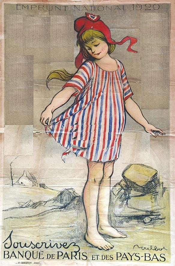 POULBOT  Emprunt National 1920 - Souscrivez Banque de Paris et des Pays-Bas     1920